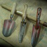 Vintage hand trowels